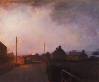 Maeve McCarthy, Approaching Night, Brandon, 50 x 60 cm, oil & tempera on board, 2015