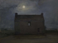 Maeve McCarthy, Abandoned House, tempera & oil on gesso panel, 30 x 40 cm, 2014, SOLD