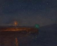 Maeve McCarthy, Night Lights, tempera & oil on gesso panel, 20 x 25, 20 x 25 cm, € 800