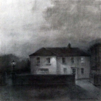 Maeve McCarthy, Security, charcoal on Fabriano paper, 56 x 56 cm, 2014, € 1,100
