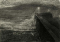 Maeve McCarthy, Winter Storm, charcoal on Fabriano paper, 70 x 100, 2014, € 1,690