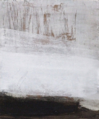 Siobhan McDonald, Steaming Lava Glass River, 33 x 27 cm, oil, pearl & sumi ink on board, 2011, € 1,100