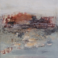 Siobhan McDonald, Sulphur Pool, oil & sumi ink on canvas, 41 x 41, 2011, unframed, € 1,700