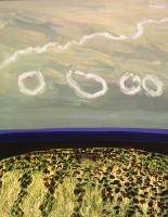 """Anne Neely, Smoke Rings, oil on board, 14"""" x 11"""", 2004-05"""