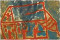 Hughie O'Donoghue, Day of the Fire IX, 2011, monotype, 37 x 55 cm, SOLD