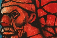 Hughie O'Donoghue, Rioba Drum V, 2011, monotype, 37 x 55 cm, SOLD