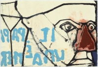 Hughie O'Donoghue, Il Papa II, 2011, monotype, 37 x 55 cm, € 2,900