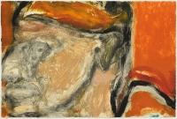 Hughie O'Donoghue, Rioba Blockhead XI, 2011, monotype, 37 x 55 cm, € 2,900
