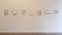 Helen O'Leary, 7 Armour constructions in situ, wood constructions with egg oil, 2013