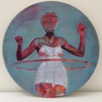 Oonagh Hurley, Hoop, acrylic on canvas, 40 cm diameter, 2014, SOLD