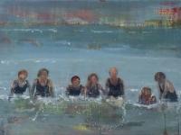 Oonagh Hurley, Ladies Beach, acrylic on board, 18 x 26 cm, 2014 SOLD