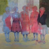 Oonagh Hurley, Erasures, 40 x 40 cm, gesso & acrylic on canvas, 2014 SOLD