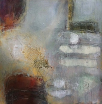 Karen Hendy, Between Two Islands, mixed media on paper, 49 x 48 cm, 2012, €1,600