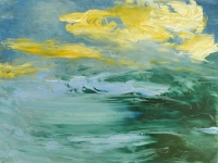 Heidi Nguyen, Over the Sea, oil on board, 29.5 x 40 cm, €470