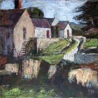 Peter Monaghan, The Millhouse, acrylic on canvas, 50 x 50 cm, 2013, €1,600