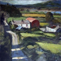 Peter Monaghan, Towards the Farm, acrylic on canvas, 50 x 50 cm, 2013, €1,600