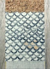 Tom Dalton, Pearly Dew Drops, mixed media on paper, 35 x 28 cm, 2013, €370