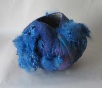Una Ni She, Azure Pot, wool felt & fibre, 34 x 20.5 x 30 cm, 2013, €350