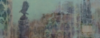 Frances Ryan, Blue Sky, 20 x 50 cm, oil and collage on panel, 2013, €760
