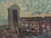 Frances Ryan, Station vi, 13 x 18 cm, oil & collage on panel, 2013, €300