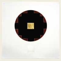 Patrick Scott, Untitled VI (from Meditations), carborundum embossed with 23.5 carat gold leaf edition of 50, € 5,250