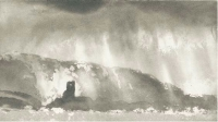 Norman Ackroyd, O'Driscoll's Castle, Clear Island, etching, edition of 90, 18 x 31 cm, 2002, € 450 unframed
