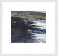Donald Teskey, Fractured Shoreline VI, Fractured Shoreline VI, carborundum & intaglio print, plate 42 x 44 cm, edition of 75, framed