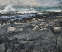 Donald Teskey, Longshore VII, oil on canvas, 100 x 120 cm, 2014, POA