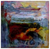Leonard Sheil, Avondale Autumn, mixed media on board, 2004, SOLD