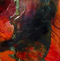 Leonard Sheil, Elegy Series 1, mixed media on canvas, 40 x 35 cm, 2004, SOLD