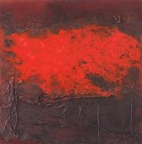 Leonard Sheil, Coporeal Series XII, mixed media on canvas, 48.5 x 48.5 cm, 2013-14