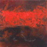 Leonard Sheil, Coporeal Series XIII, mixed media on canvas, 48.5 x 48.5 cm, 2013-14