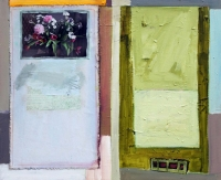 Katherine Boucher Beug, Bunch of Flowers, mixed media on canvas, 48 x 57 cm, 2012, €2,000