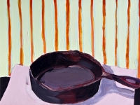 Katherine Boucher Beug, Frying Pan, acrylic on paper, 25 x 33 cm, €1,500