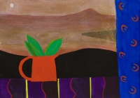 Jane O'Malley, Still Life-Yaiza, gouache, acrylic and collage, 2009, 35.5 x 25.5 cm, SOLD