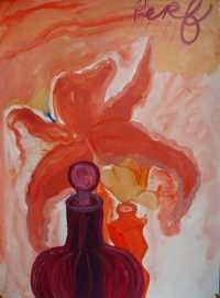 Suzy O'Mullane, Perfume Rain, 76 x 56 cm, oil on paper, 2012, €2,500