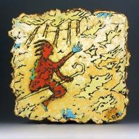 Cormac Boydell, St Aban, ceramic and handmade glazes,44x48, 2015