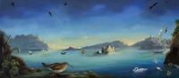 Gail Boyajian, Dawn Reflections, oil on panel, 2015
