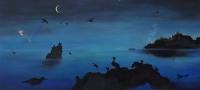 Gail Boyajian, Dusk Reflections, oil on panel, 2015