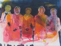 Oonagh Hurley, Links, 40.5 x 51cm, acrylic on canvas, 2015