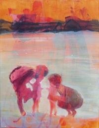 Oonagh Hurley, The Encounter, 45.5x 35.5, acrylic on canvas,2015