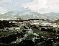 Avril Lyons, Bogland Series No. 2, acrylic on canvas panel, 2015
