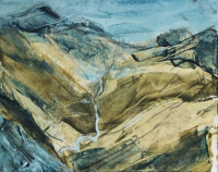 Joe Wilson, Ben Breen 1, oil on primed Fabriano, 2014