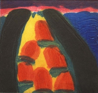 William Crozier, Sherkin Island, carborundum print, 14 x 14.5 cms, edition of 75, 1994