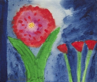 William Crozier, Untitled (Oriental Poppies), watercolour, 16 x 19 cms, c. 1995, SOLD