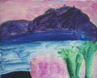 William Crozier, Untitled (Roaring Water Bay), oil on canvas, 22.5 x 27 cms, c. 1993