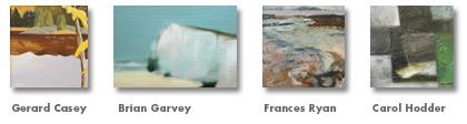 Small landscape paintings by Gerard Casey, Brian Garvey, Neal Greig, Carol Hodder, Frances Ryan