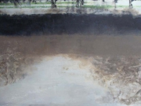Bernadette Kiely, Flooding (The Quay, 2008), oil on canvas, 103 cm x 153 cm, 2008