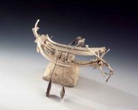 Alan Counihan, Vessel no. 4, bone, feather, horsehair, limestone, 36 x 32 x 42 cm, 2000, € 1,000