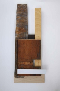 Katherine Boucher Beug, Announcement, wood & found material, 61 x 24 cm, 2014, €950